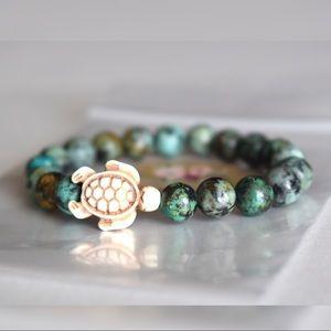 🐢 African Turquoise Turtle Bracelet 🐢